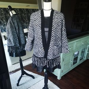 LOFT Tweed Knitted Sweater Cardigan